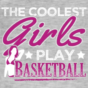 COOLEST GIRLS PLAY BASKETBALL - Men's Vintage T-Shirt