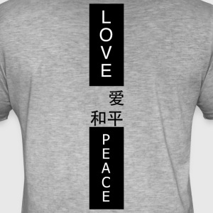 LOVE PEACE - Vintage-T-shirt herr
