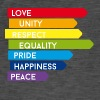 gay Love Unity Respect Pride happy rainbow colorful - Men's Vintage T-Shirt