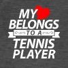 My heart belongs to a tennis player - Men's Vintage T-Shirt