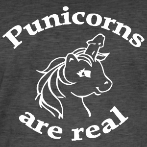 Punicorn are real - Men's Vintage T-Shirt