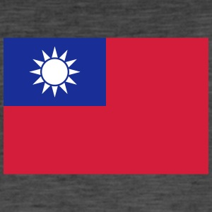 National Flag Of Taiwan - Vintage-T-shirt herr
