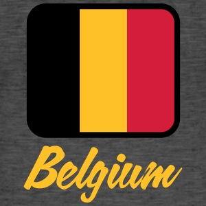 National Flag Of Belgium - Herre vintage T-shirt