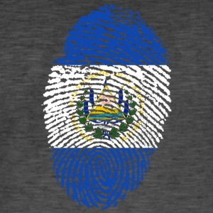 EL SALVADOR FINGERPRINT T-SHIRT - Men's Vintage T-Shirt