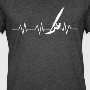 Heartbeat surfare - Vintage-T-shirt herr