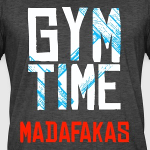 GYM Time - MADAFAKAS - Vintage-T-skjorte for menn
