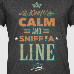 Keep calm and sniff a Line - Koks Drogen - Männer Vintage T-Shirt