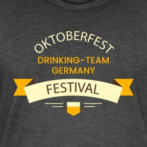 Oktoberfest Drinking Team Germany 1 - Vintage-T-skjorte for menn