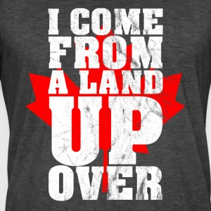 Ik kom uit een land Up Over Canada Maple Leaf - Mannen Vintage T-shirt