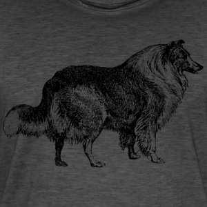 collie - Mannen Vintage T-shirt