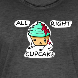 All Right Cupcake - Men's Vintage T-Shirt