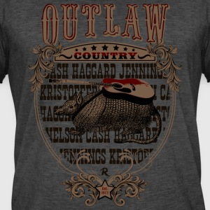 Outlaw Country Americana (Armadillo with guitar) - Men's Vintage T-Shirt