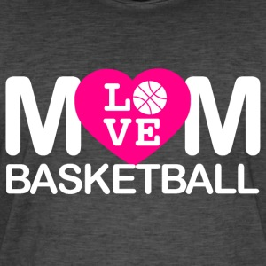 Mom houd van basketbal - Mannen Vintage T-shirt