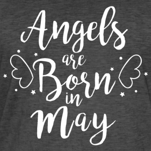 Angels are born in May - Men's Vintage T-Shirt