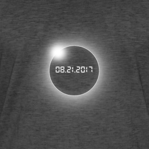 Total Solar Eclipse-USA-08.21.2017 - Vintage-T-skjorte for menn