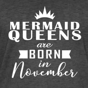 Mermaid Queens november - Vintage-T-skjorte for menn