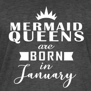 Mermaid Queens januar - Vintage-T-skjorte for menn