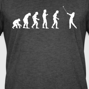 menneskelige evolution GOLF - Herre vintage T-shirt