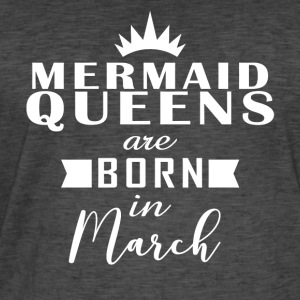 Mermaid Queens mars - Vintage-T-skjorte for menn