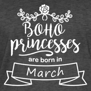 Boho Princesses are born in March - Men's Vintage T-Shirt