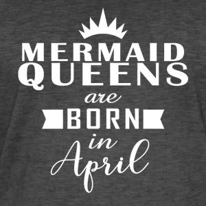 Mermaid Queens april - Vintage-T-skjorte for menn