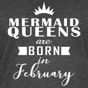 Mermaid Queens februar - Vintage-T-skjorte for menn