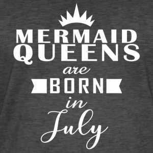 Mermaid Queens juli - Vintage-T-skjorte for menn