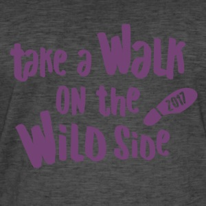 Vierdaagse Nijmegen 2017-Walk the Wild Side PURPLE - Mannen Vintage T-shirt