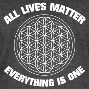 ALL LIVES MATTER FLOWER OF LIFE SHIRT - Männer Vintage T-Shirt