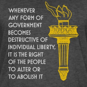 Liberty torch, individual freedom quote libertaria - Men's Vintage T-Shirt