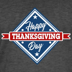 Happy Day Merci Giving Amérique Thanksgiving - T-shirt vintage Homme