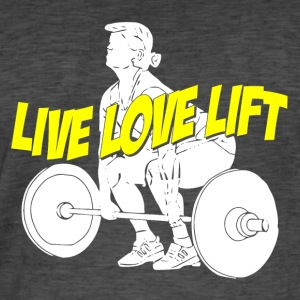 Live love lift - Männer Vintage T-Shirt