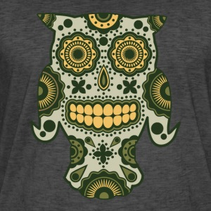 Owl Sugar Skull - Men's Vintage T-Shirt