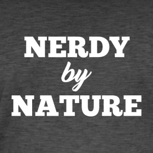 Nerdy by Nature - Vintage-T-shirt herr