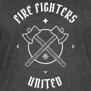 Firefighters United - firefighters and ax - Men's Vintage T-Shirt