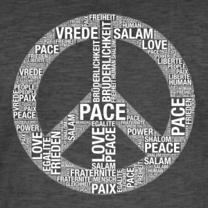 Fred, Pace, Paix, Salaam, Shalom, fred! - Vintage-T-shirt herr