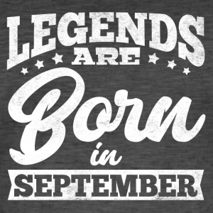 Legends föds i September - Vintage-T-shirt herr