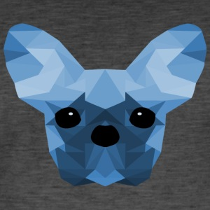 French Bulldog Low Poly Design blue - Männer Vintage T-Shirt
