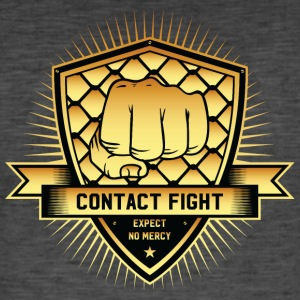 Contact Fight Gold - Männer Vintage T-Shirt