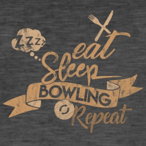 EAT SLEEP BOWLING REPEAT - Herre vintage T-shirt