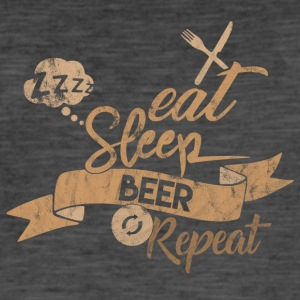 Eat Sleep BIRRA REPEAT - Maglietta vintage da uomo