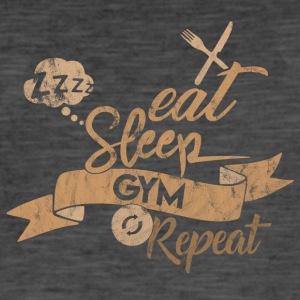 Eat Sleep REPEAT GYM - Vintage-T-skjorte for menn