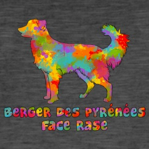 Shepherd of the Pyrenees Face Rase Multicolore - Men's Vintage T-Shirt