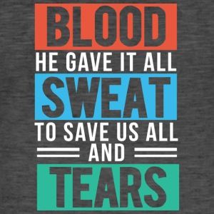 Blood, Sweat and Tears Christian - T-shirt vintage Homme