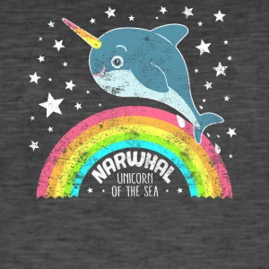 Narwal Unicorn of the Sea Cool whale sea shirt - Men's Vintage T-Shirt