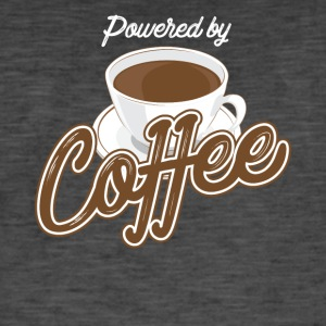 Powered by Coffee - Miesten vintage t-paita