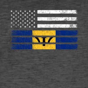 Barbados American Flag - USA Barbados Shirt - Herre vintage T-shirt