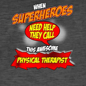 Super hero gift funny professional physiotherapist - Men's Vintage T-Shirt