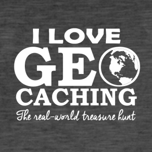 Geo caching - Vintage-T-skjorte for menn