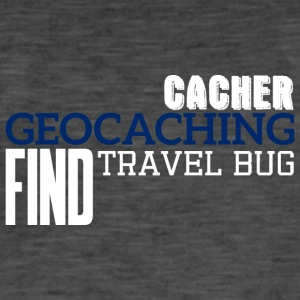Geocaching, geocache, GPS, hiking, nerd, gift - Men's Vintage T-Shirt